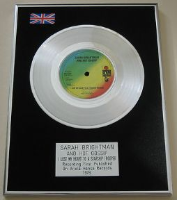 SARAH BRIGHTMAN - I Lost My Heart To A Starship Trooper PLATINUM single presentation DISC